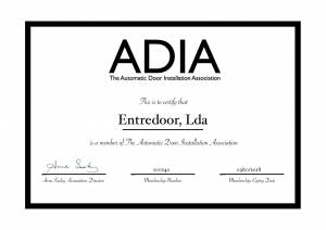 Certificado ADIA